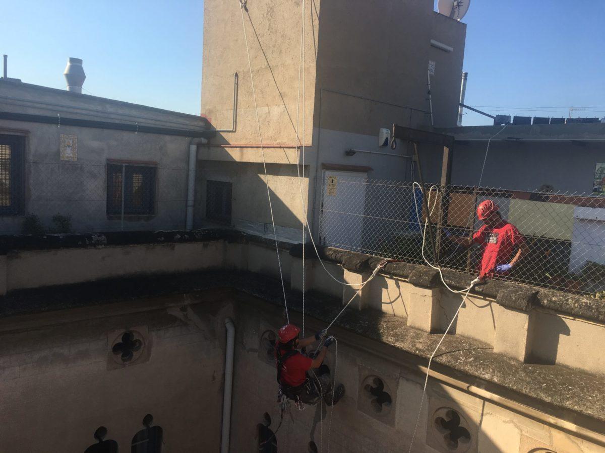 Trabajadores especializados en trabajos verticales